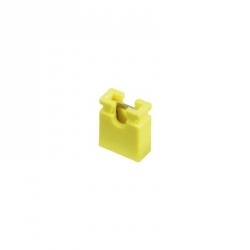 Yellow 2.54 mm Jumper (open top)