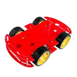 Șasiu Robot cu 4 Motoare (Roșu)
