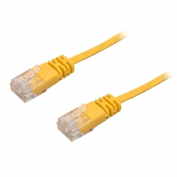 Ultra Flat CAT6 Yellow 0.3 m Network Cable