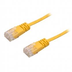 Cablu de Retea, Ultra Plat, CAT6, Galben, 1 m