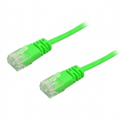 Ultra Flat CAT6 Green 0.3 m Network Cable