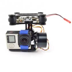 Modul Gimbal Stabilizat pe 2 Axe cu Motoare și Controller pentru Montură GoPro Hero