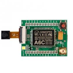Placă de Dezvoltare cu Cameră pentru Modulele GSM / GPRS A6C