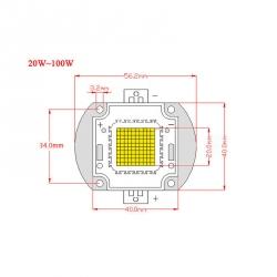 20 W RGB LED