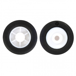 14 × 4.5 mm Pololu Wheels for Sub-Micro Planetary Plastic Reduction Motors