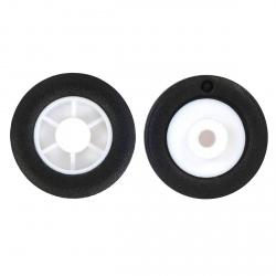 Pereche de Roţi Pololu 14 × 4.5 mm pentru Sub-Micro Motoare cu Reductor Planetary din Plastic