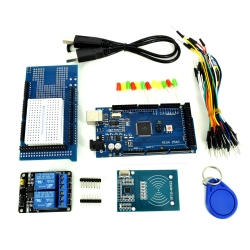 MEGA2560 - Compatible with Arduino Kit with Proto Shield and 2 Relays Module