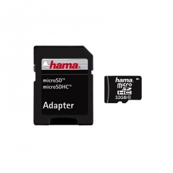 HAMA Micro SDHC 32 GB 10 Class Memory Card with SD Adapter