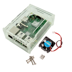 Carcasa Raspberry Pi plexiglass transparent cu ventilator