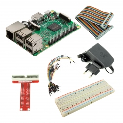 Model B Pachet Raspberry Pi 3 Model B + Alimentator de 2.5 A, 5.1 V + Adaptor GPIO