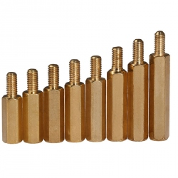 55x6 mm Metal M3 Hexagonal Pillar