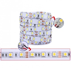 Bara de LED-uri 5630 SMD cu Temperatura de Culoare difuza 3000 K 12 V - 24 V (Nuanta Alba Calda, Rola 5 m)