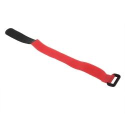 Bandă de Prindere Roşie pentru Acumulatori LiPo (30 cm)