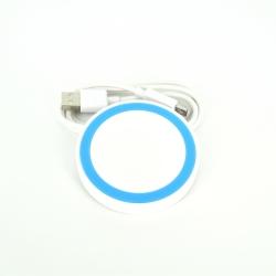 Incarcator Wireless Alb cu Albastru