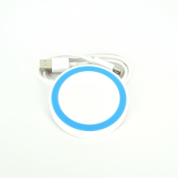 White and Blue Wireless charger