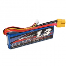 LiPo Turnigy 1300 mAh 2S 20C Battery (1/18TH, 7.4 V)