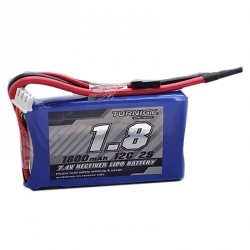 LiPo Turnigy 1800 mAh 2S 12C 7.4 V Battery - For Receiver