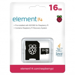 16 GB MicroSD Card With NOOBs For Raspberry Pi 3 ( Original )
