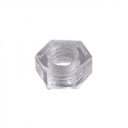 Piuliță din Plastic Hexagonală, Transparentă, M3