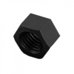 Plastic Hexagonal Nuts, Black, M3