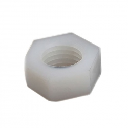 Plastic Hexagonal Nuts, White, M2
