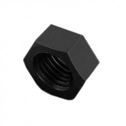 Plastic Hexagonal Nut, Black, M2