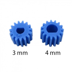 Blue M0.5 Plastic Gear for 3 mm D Shaft
