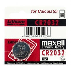 Lithium CR2032 Maxell Battery