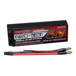 LiPo Turnigy Nano-Tech Battery 5600 mAh 2S 2P 50~100C with Hard Case