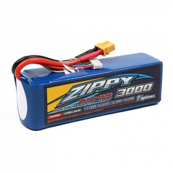 LiPo ZIPPY Flightmax 3000 mAh 6S 20C Battery with XT60U Connector