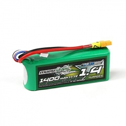 LiPo MultiStar 1400 mAh 3S 40C Battery with LED Battery Level Indicator