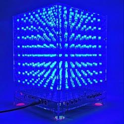 Kit DIY Cub cu LED-uri MP3 3D 8 x 8 x 8 mm și Carcasă Perspex 3 mm