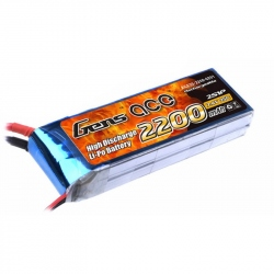 Lipo Gens ace 2200mAh 7.4V 25C 2S1P Battery