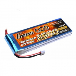 Lipo Gens ace 2500mAh 7.4V 25C 2S1P Battery