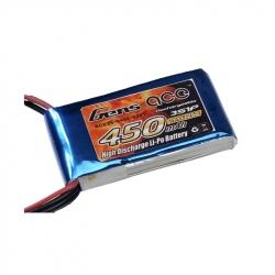 Lipo Gens ace 450mAh 11.1V 25C 3S1P Battery