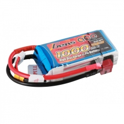 Lipo Gens ace 1000mAh 11.1V 25C 3S1P Battery