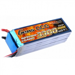 Lipo Gens ace 3300mAh 18.5V 25C 5S1P Battery