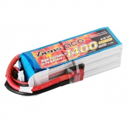 Lipo Gens Ace 1400mAh 22.2V 40C 6S1P Battery