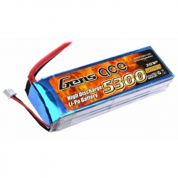 Lipo Gens ace 5300mAh 7.4V 30C 2S1P Battery