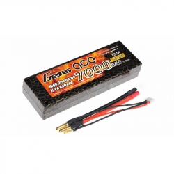 Lipo Gens ace 7000mAh 7.4V 50C 2S2P Battery with Hard Case