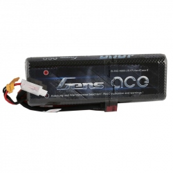 Lipo Gens ace 4000mAh 7.4V 25C 2S1P Battery with Hard Case