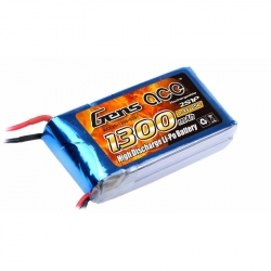 Lipo Gens ace 1300mAh 7.4V 25C 2S1P Battery