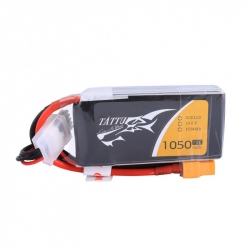 LiPo TATTU 1050mAh 14.8V 75C 4S1P Battery