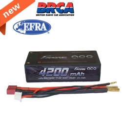 LiPo Gens ace 4200mAh 7.4V 60C 2S2P Battery with Hard Case