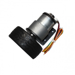 JGB37-520 Gearmotor with Encoder and Wheel (12 V, 320 RPM)