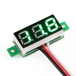 4.5-30 V Green Panel Voltmetre