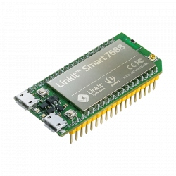 LinkIt Smart 7688 with MT7688 (580 MHz, 128 MB RAM, WiFi) and ATmega32u4