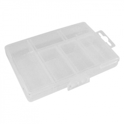 Plastic Storage Box with 5 Compartments (85 x 135 x 25 mm)