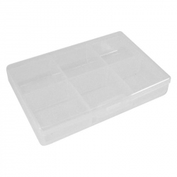 Velleman Plastic Storage Box with 6 compartments (62 x 86 x 19 mm)