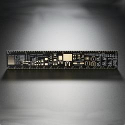 Riglă cu Capsule de Componente Electronice (25.6 mm x 153.98 mm x 1.64 mm)